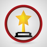 Star trophy cinema and movie design Stock Photo
