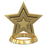 Star trophy golden - glass Royalty Free Stock Photo