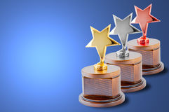 Star trophy set royalty free stock photos