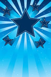 Star up effect card. Illustration design stars up front blue color background template graphic element object Royalty Free Stock Image