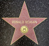 The star of US president Ronald Reagan. On the walk of fame on Hollywood blvd, Los Angeles, California Stock Images
