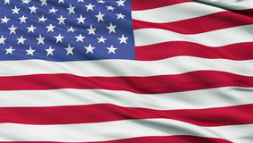 52 Star USA Close Up Waving Flag. 52 Star United States of America Flag, Close Up Realistic 3D Animation, Seamless Loop - 10 Seconds Long stock footage