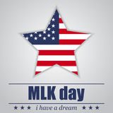 Star with USA flag MLK day on a white background. Vector illustration Stock Photography