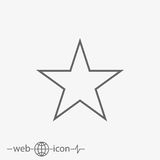 Star vector icon. On grey background Stock Photography