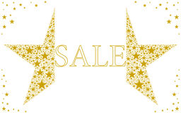 Star. Vector illustration. Beautiful gold sale logo Royalty Free Stock Photography