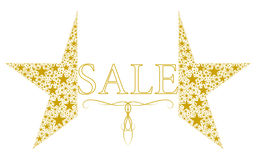 Star. Vector illustration. Beautiful gold sale logo Royalty Free Stock Images