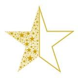 Star. Vector illustration. Beautiful gold sale logo Stock Photo