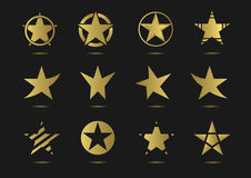 Star vector logo icon set. Super golden star vector logo icon set  for your company Royalty Free Stock Photos