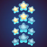 Star vector logo set icon Royalty Free Stock Image