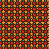 Star Vector Pattern With Dark Background Royalty Free Stock Photo