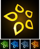 Star vibrant emblems. Royalty Free Stock Photos