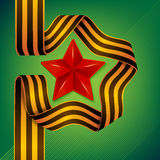 Star of Victory day. Vector Star and ribbon of Saint George - 9 May - Victory day Stock Image