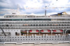 Star Virgo Cruise Ship side view Royalty Free Stock Image