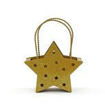 Star Votive Candle Holder Front View Royalty Free Stock Images