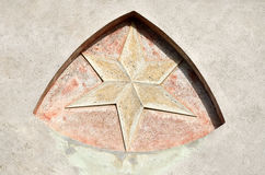 Star in the wall Royalty Free Stock Image