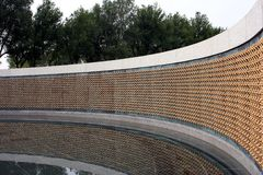 Star Wall of WWII Memorial. World War II memorial Stock Photo