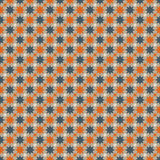 Star wallpaper. Seamless star background in blue, orange, grey and broken white Stock Photo