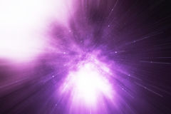 Star Warp or Hyperspace, abstract speed tunnel warp in space. Across the universe, 3d rendering Royalty Free Stock Image