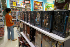 Star wars action figure. S sold in a toy shop in the city of Solo, Central Java, Indonesia Royalty Free Stock Images
