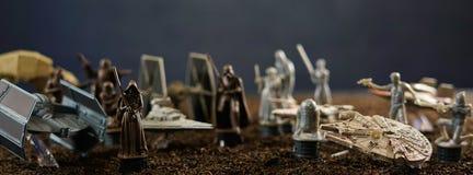 Star Wars battlefield scene social media web banner Stock Photo