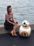 Star Wars BB8 en vriend stock foto's