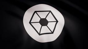 Star Wars Confederacy de la bandera de los sistemas independientes está agitando en fondo transparente Primer de la bandera que a ilustración del vector