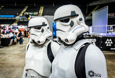 Star Wars Cosplay. Sheffield, UK - June 11, 2016: Cosplayers dressed as characters from the movie 'Star Wars' at the Yorkshire Cosplay Convention at Sheffield Royalty Free Stock Photography