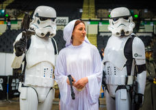 Star Wars Cosplay. Sheffield, UK - June 11, 2016: Cosplayers dressed as characters from the movie 'Star Wars' at the Yorkshire Cosplay Convention at Sheffield Stock Images
