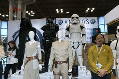 Star Wars costumes for sale at NY Comic Con Royalty Free Stock Photo