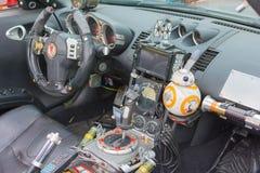 Star Wars custom interior car on display Stock Photo