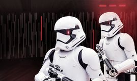 Star Wars-de kostuums van Onweersmarechausseeën royalty-vrije stock foto
