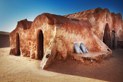 Star wars decoration in Sahara desert Royalty Free Stock Photos