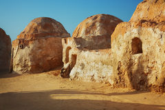 Star wars decoration in Sahara desert Stock Images