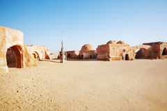 Star wars decoration in Sahara desert