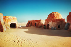 Star wars decoration in Sahara desert Royalty Free Stock Photography