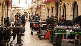 Star Wars: Den sista Jedi filmfilmseten i Dubrovnik, Kroatien royaltyfri fotografi