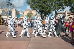 Star Wars, Disney World, Storm Troopers Show. Stars Wars Storm Troopers put on a marching show at Hollywood Studio in Walt Disney World outside of Orlando, FL royalty free stock photography