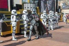 Star Wars, Disney World, Storm Troopers Show. Stars Wars Storm Troopers put on a marching show at Hollywood Studio in Walt Disney World outside of Orlando, FL royalty free stock images