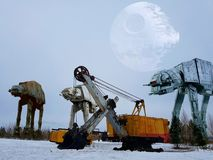 Star Wars. The empire explores the Earth Stock Photo
