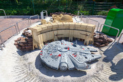 Star Wars Episode at Legoland. Episode from Star Wars with walkers made from plastic lego blocks in Legoland Gunzburg Germany. On 27.08.2012 Stock Photography