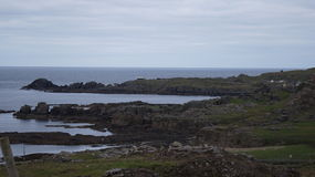 Star Wars-Film bij Breasty-Baai in Malin Head, Co wordt geplaatst dat Donegal, IRL stock afbeeldingen