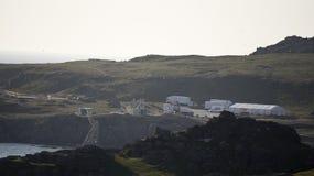 Star Wars-Film bij Breasty-Baai in Malin Head, Co wordt geplaatst dat Donegal, IRL royalty-vrije stock afbeeldingen