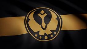 Star Wars Galaktische Vereinigung der freien B?ndnisflagge bewegt auf transparenten Hintergrund wellenartig Nahaufnahme der welle lizenzfreie abbildung