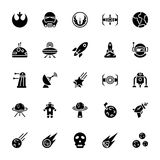 Star wars glyph icon pack. The pack is embedded with the icons i e not just best fit for star war buffs but for those interested in comical adventure, fighting royalty free illustration