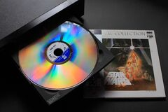Star wars Laser disc Royalty Free Stock Photos