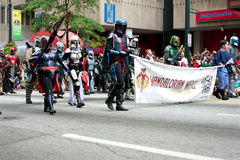 Star Wars Mandalorian Mercenaries Walk In The Dragon Con Parade Stock Photography