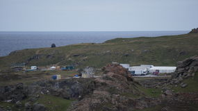 Star Wars Movie Set construction in Malin Head, Ireland. Royalty Free Stock Images