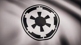 Star Wars Neue galaktische Reichflagge bewegt auf transparenten Hintergrund wellenartig Nahaufnahme der wellenartig bewegenden Fl lizenzfreie abbildung