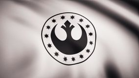 Star Wars New Republic Symbol on flag. The Star Wars theme. Editorial only use.  vector illustration