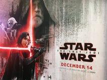 Star Wars: Ostatni Jedai w SF Światowym kinie, Bangkok Obraz Royalty Free